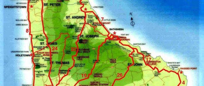 Weltrekordreise, Nord-Amerika, Karibik, Barbados, Bridgetown throughout Miami Beach Barbados Map