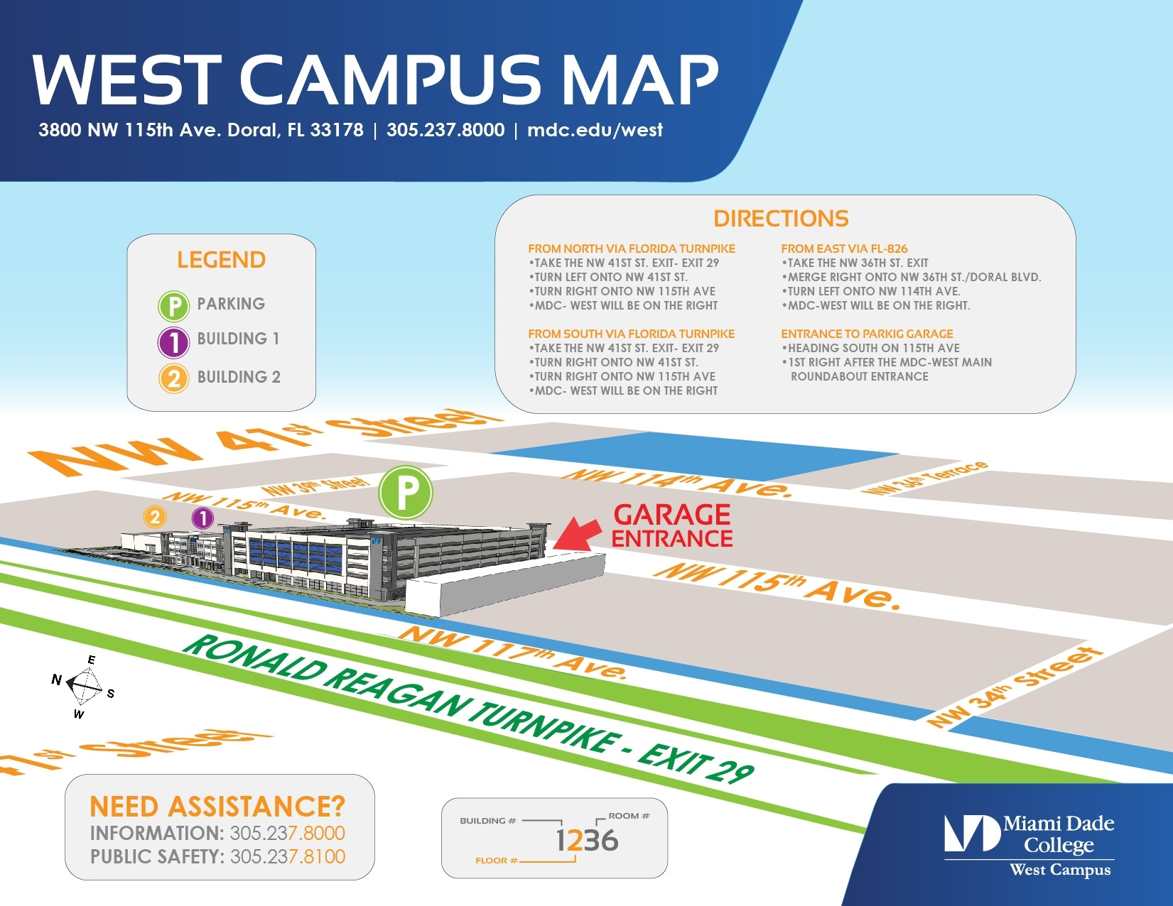 West Campus - Public Safety And Emergency Preparedness in Miami Dade College Kendall Campus Map