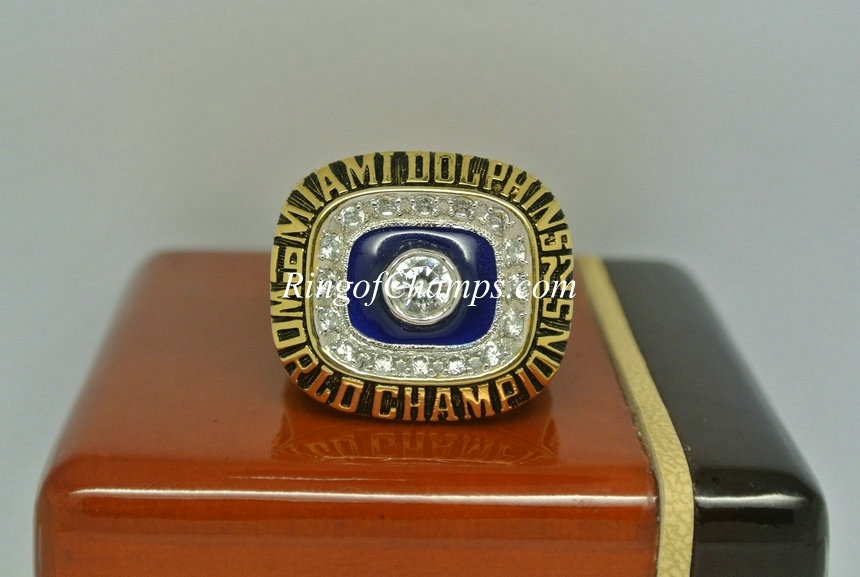 1972 Super Bowl Vii Miami Dolphins Championship Ring with Miami Super Bowl Volunteers