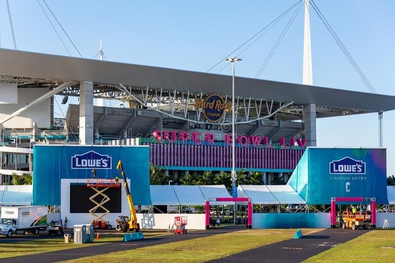 Hard Rock Stadium Of The Miami Dolphins. Hard Rock Stadium with Miami Super Bowl Stadium