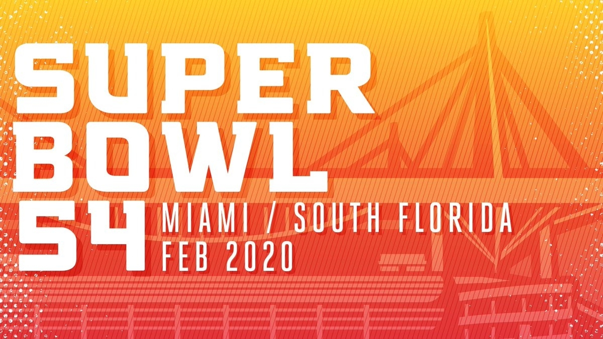 Super Bowl 54 Is Coming To South Florida In 2020. Https intended for Miami Super Bowl Logo