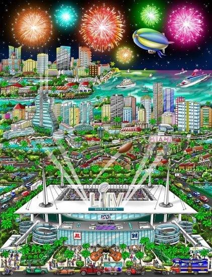 Super Bowl Liv: Miami | Fazzino regarding Super Bowl At Miami
