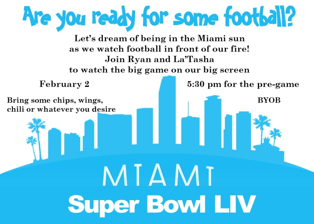 Super Bowl Liv Party Invitation The City Of Miami Is with Miami Super Bowl Host Years