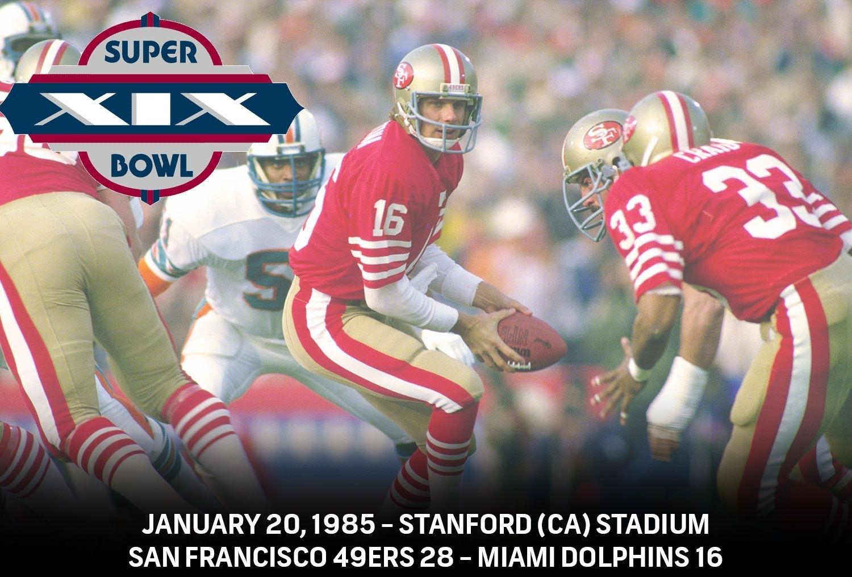 Super Bowl Xix - San Francisco 49Ers 38 - Miami Dolphins pertaining to Miami Super Bowl Appearances