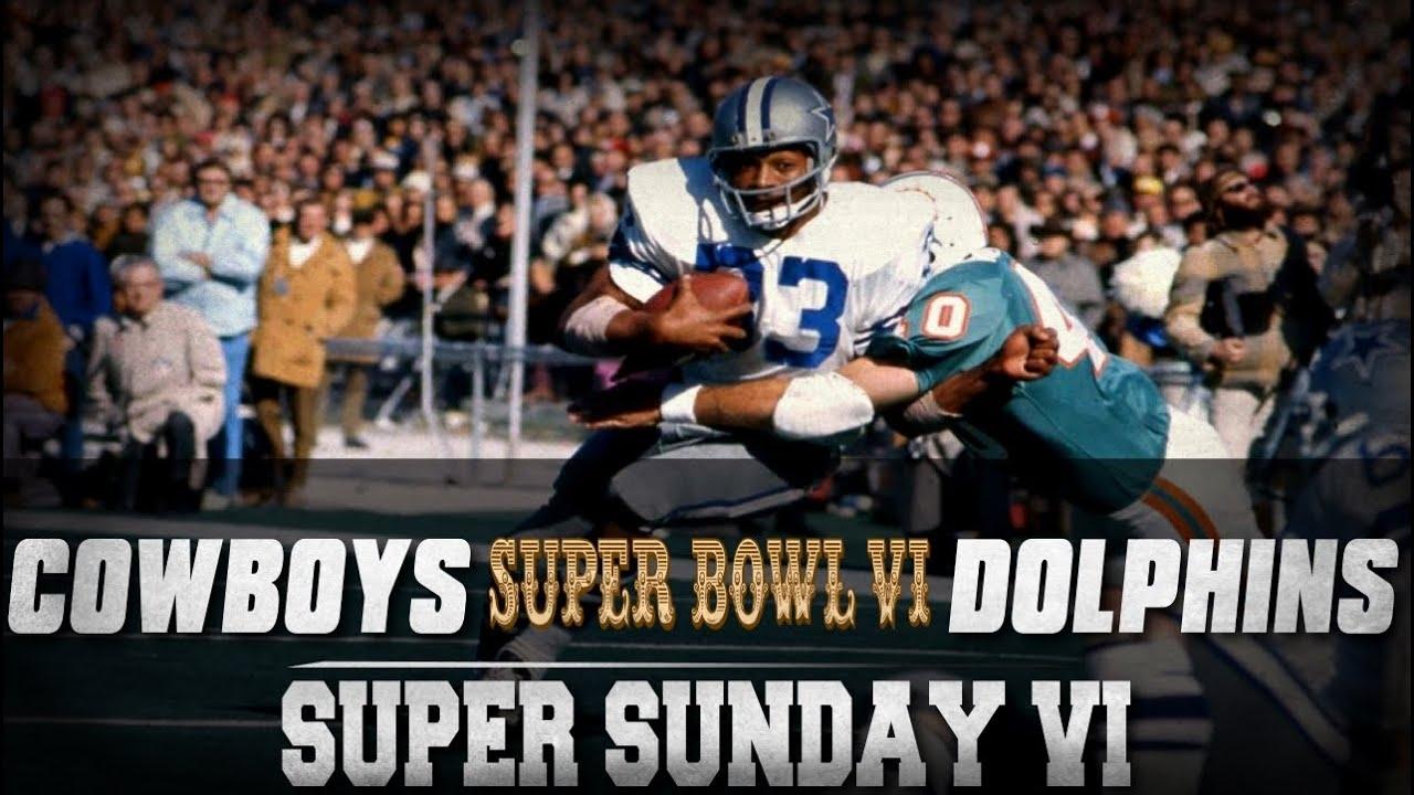 Super Sunday | Super Bowl Vi | Dallas Cowboys Vs Miami inside Miami Super Bowl Weekend
