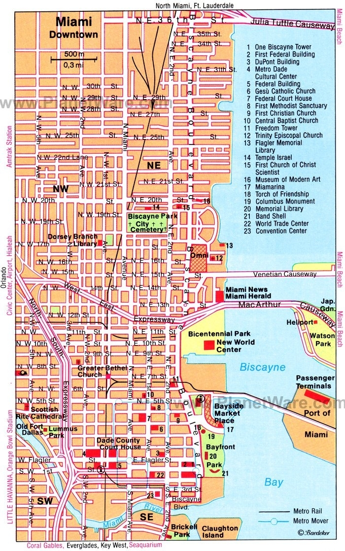 18 Top-Rated Tourist Attractions In Miami, Fl | Planetware within Miami Florida On Us Map