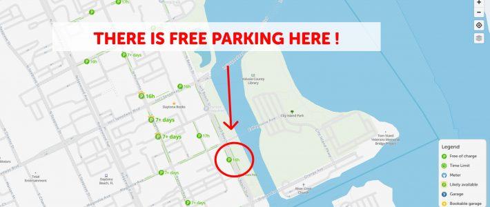 2021 Map Of Free Parking In Daytona Beach - Spotangels with regard to Miami Beach Zoning Map