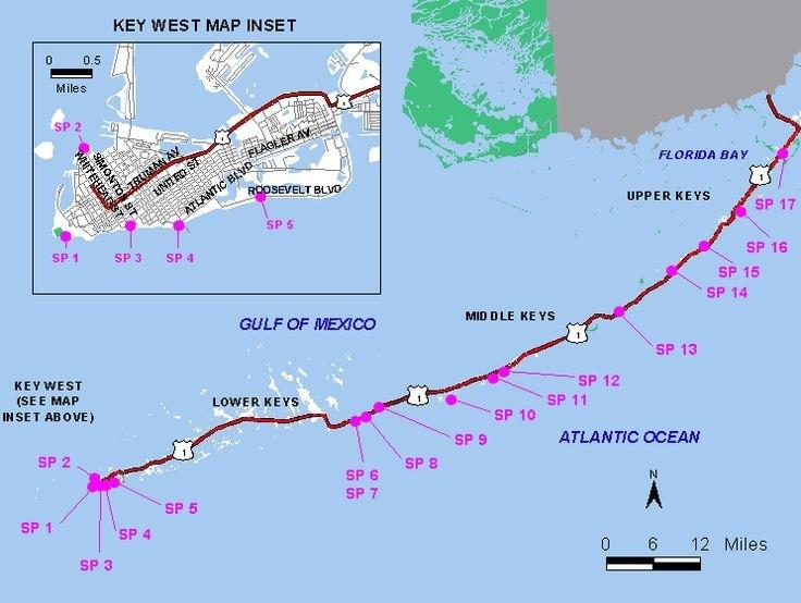 25+ Trendiga Map Of Florida Beaches-Idéer På Pinterest with Map Miami Florida Keys
