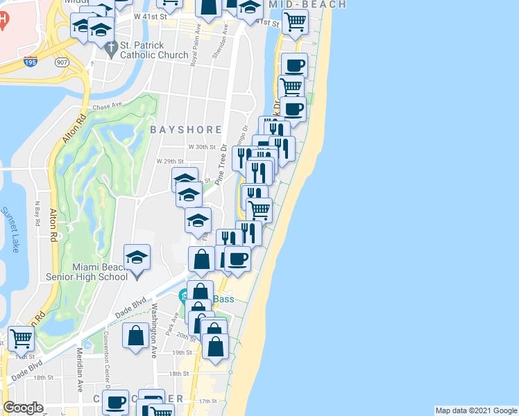 2699 Collins Avenue, Miami Beach Fl - Walk Score for Miami South Beach Shopping Map