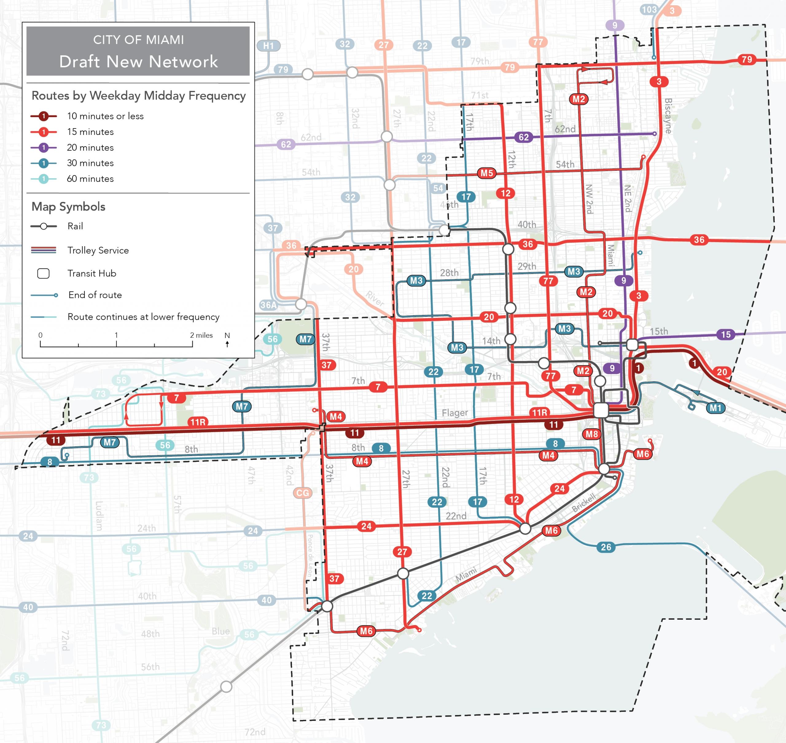 28 Miami Dade Bus Routes Map - Maps Online For You regarding Miami Dade Train Map
