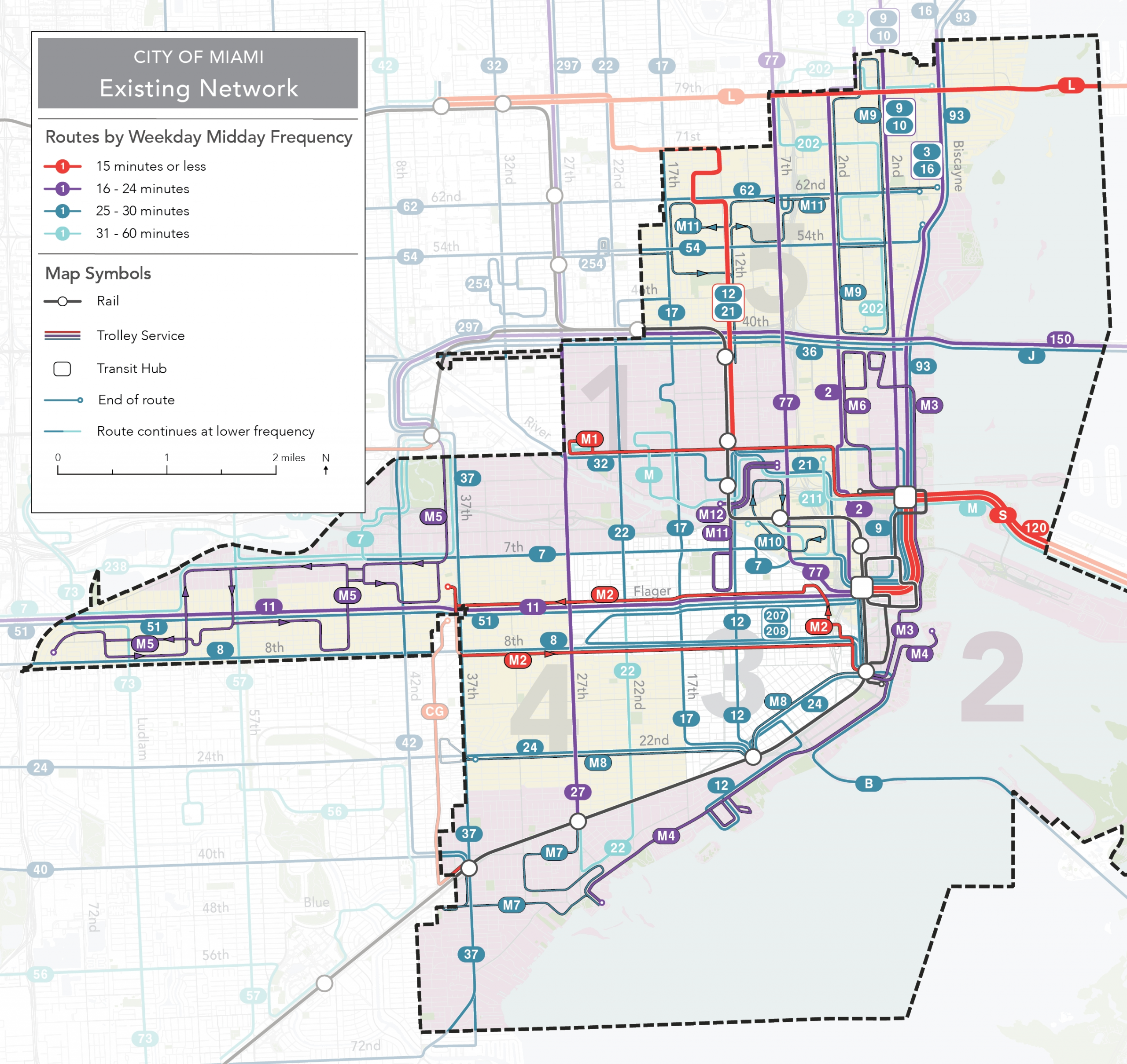 28 Miami Dade Bus Routes Map - Maps Online For You with Miami Dade Zip Code Map With Cities