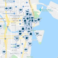 425 Brickell Avenue, Miami Fl - Walk Score inside Downtown Miami Zip Code Map