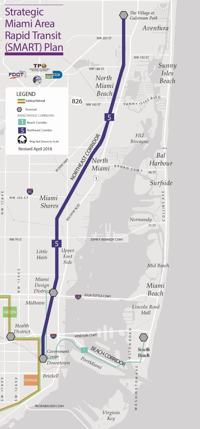 5 - Northeast Corridor - Miami Dda intended for North Miami Beach Land Use Map