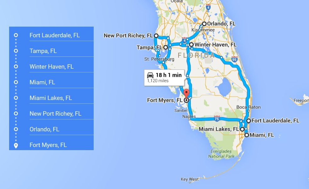 7 Cities Near Fort Myers California With Accredited with regard to Map Miami Florida Surrounding Areas