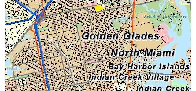 Aerial Photography Map Of North Miami, Fl Florida pertaining to Map Of North Miami Beach Fl