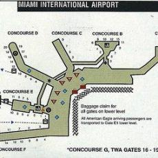 Airline Maps regarding Terminal N Miami International Airport Map