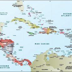 America Mapa Vectorial Editable De Paises,Ciudades,Eps throughout Mapa De Miami Florida Con Nombres