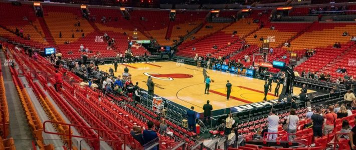 American Airlines Arena Section 103 Seat Views   Seatgeek regarding American Airlines Arena Miami Parking Map