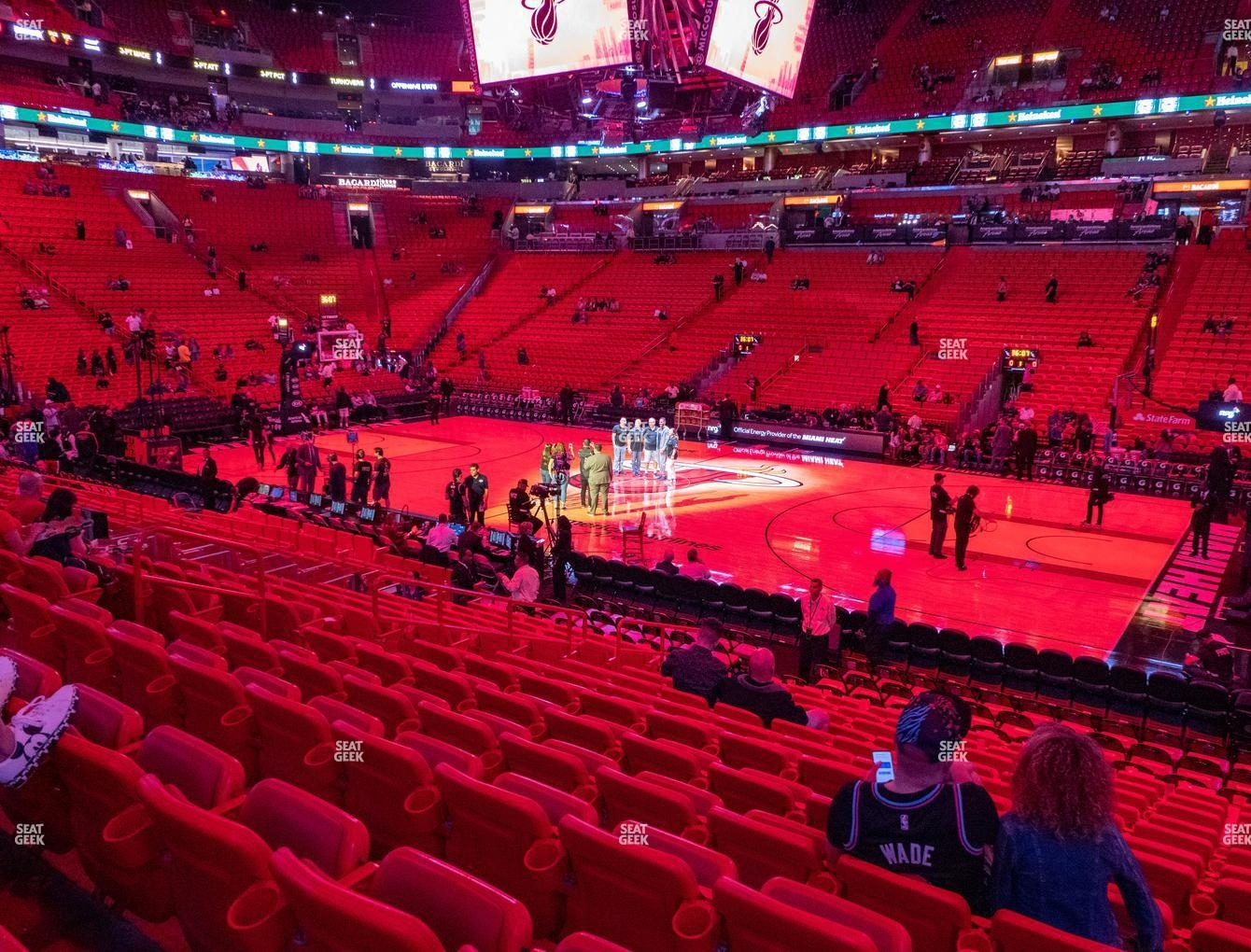 American Airlines Arena Section 117 Seat Views   Seatgeek regarding American Airlines Arena Parking Map