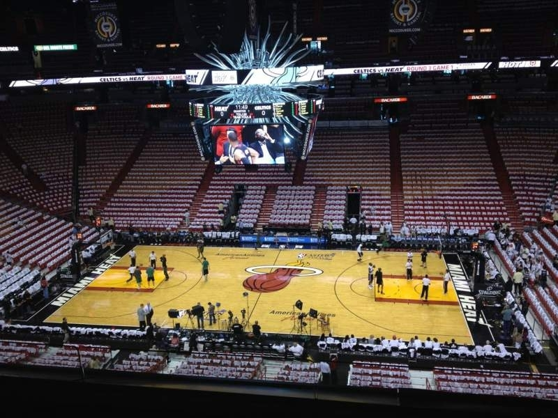American Airlines Arena, Section 324, Row 3, Seat 5 with regard to Miami Heat Stadium Map