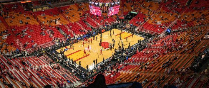 American Airlines Arena Section 411 Seat Views   Seatgeek regarding Miami Heat Stadium Map