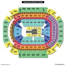 American Airlines Center Seating Chart   Seating Charts intended for American Airlines Arena Interactive Map