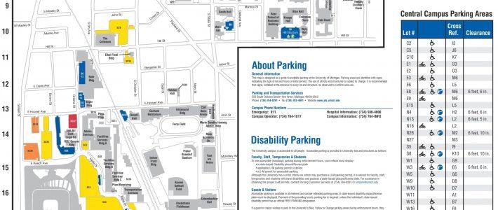 Ann Arbor - University Of Michigan Campus Map in Miami University Bus Map
