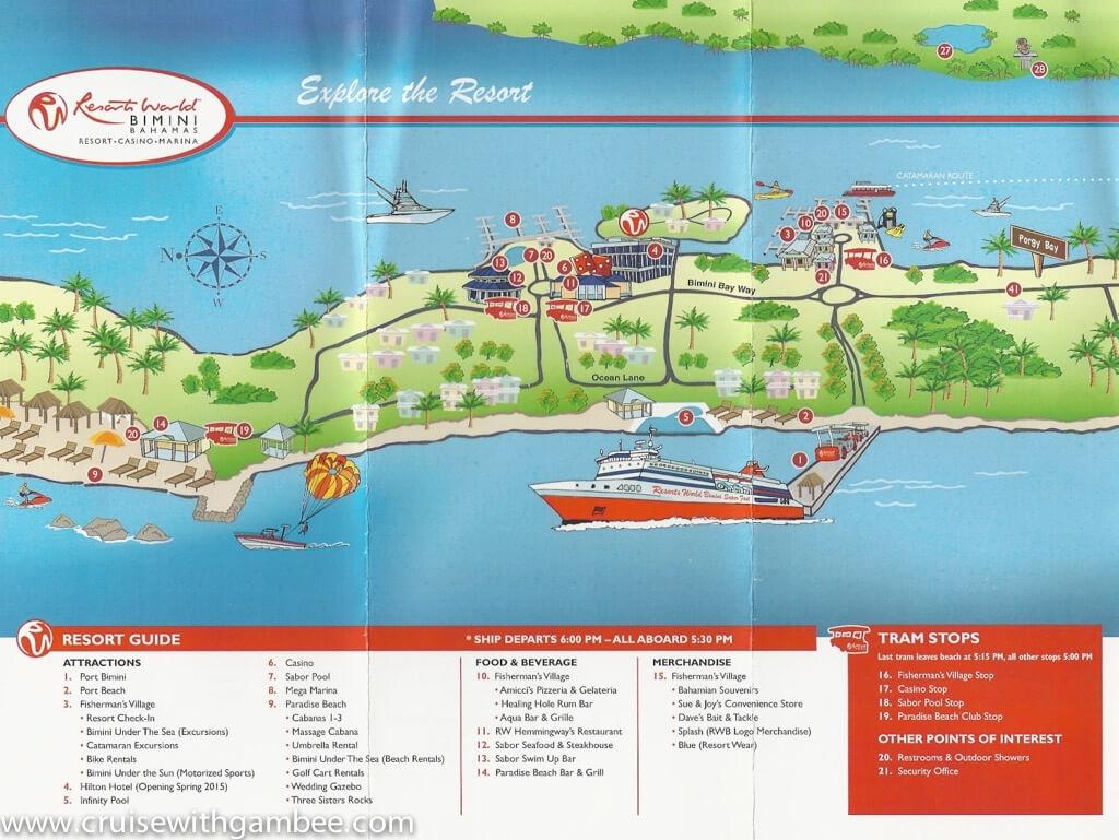 Bimini Superfast Island Map - Cruise With Gambee inside Grand Beach Hotel Miami Beach Map