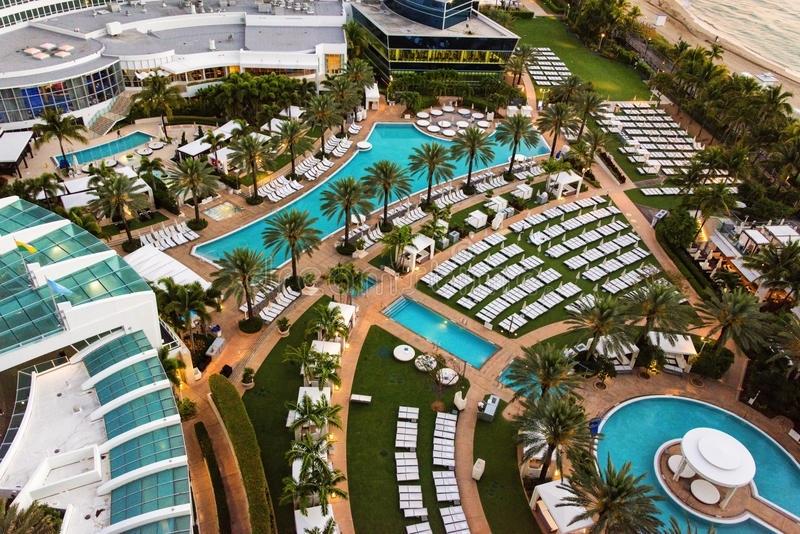 Centro Turístico De Fontainebleau, Miami, La Florida in Centro De Convenciones Miami Beach Mapa