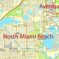 City Map Miami Vector Urban Plan Adobe Pdf Editable Street Map in Miami Beach Street Map