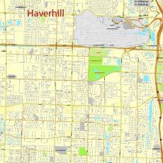 City Map Miami Vector Urban Plan Adobe Pdf Editable Street Map inside Street Map Of Miami Florida
