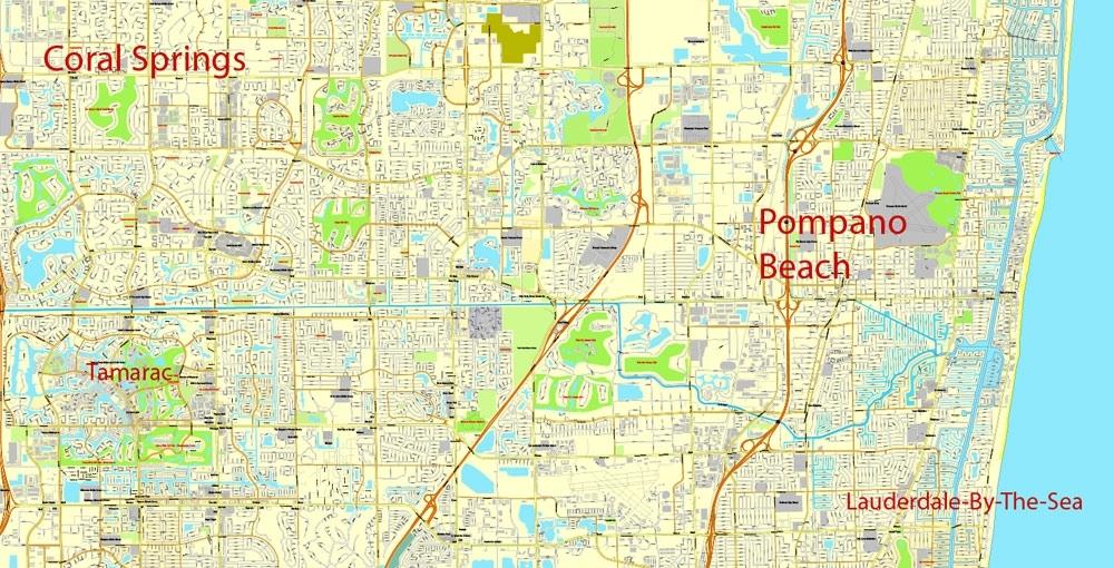 City Map Miami Vector Urban Plan Adobe Pdf Editable Street Map throughout Street Map Of Miami Florida