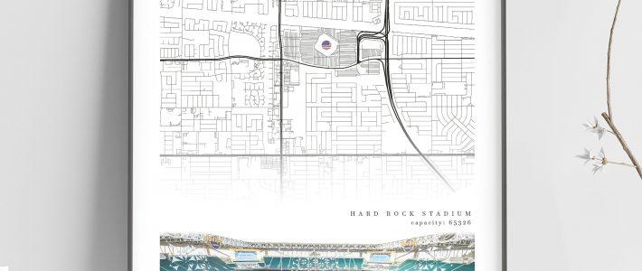City Map Of Miami - Hard Rock Stadium - Home Decor Miami within Hard Rock Stadium Miami Map