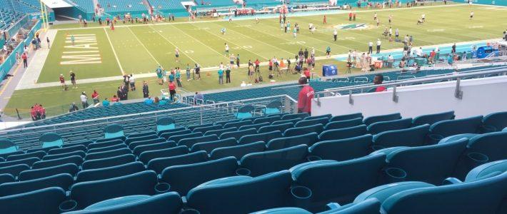 Club Level Sideline - Hard Rock Stadium Football Seating with regard to Miami Dolphins Stadium Layout