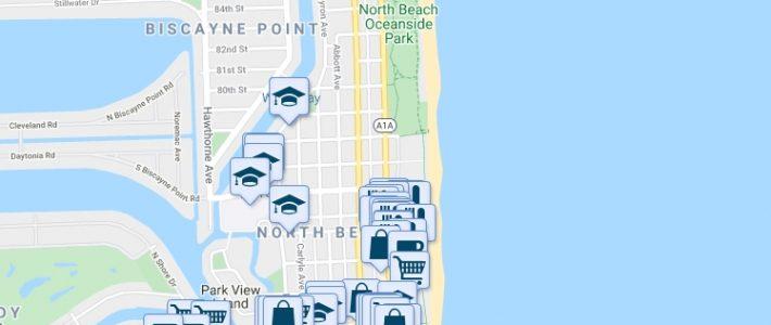Collins Avenue & 78Th Street, Miami Beach Fl - Walk Score regarding Miami Beach Map Of Restaurants