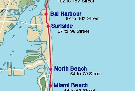 Collins Avenue Map   Collins Avenue Hotels, Clubs with regard to Street Map Of South Beach Miami
