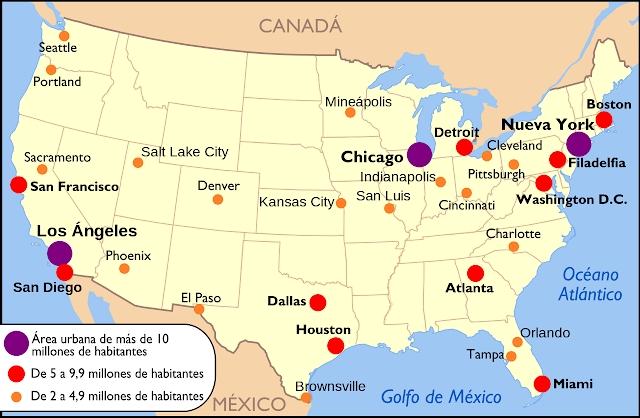 Comercio Internacional En Mexico inside Miami Mapa De Estados Unidos