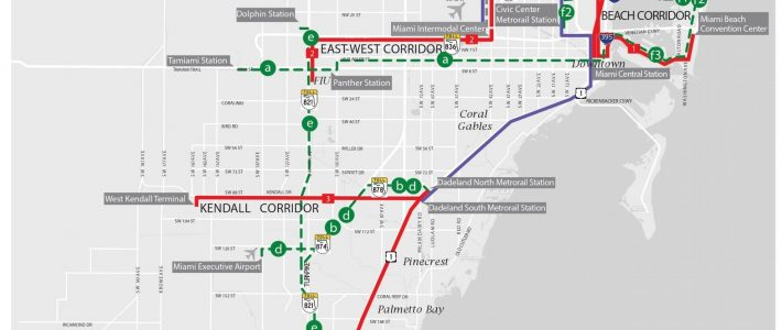 County Preparing To Spend $3.6B On Rapid Transit - The within Miami Dade County Transit Map