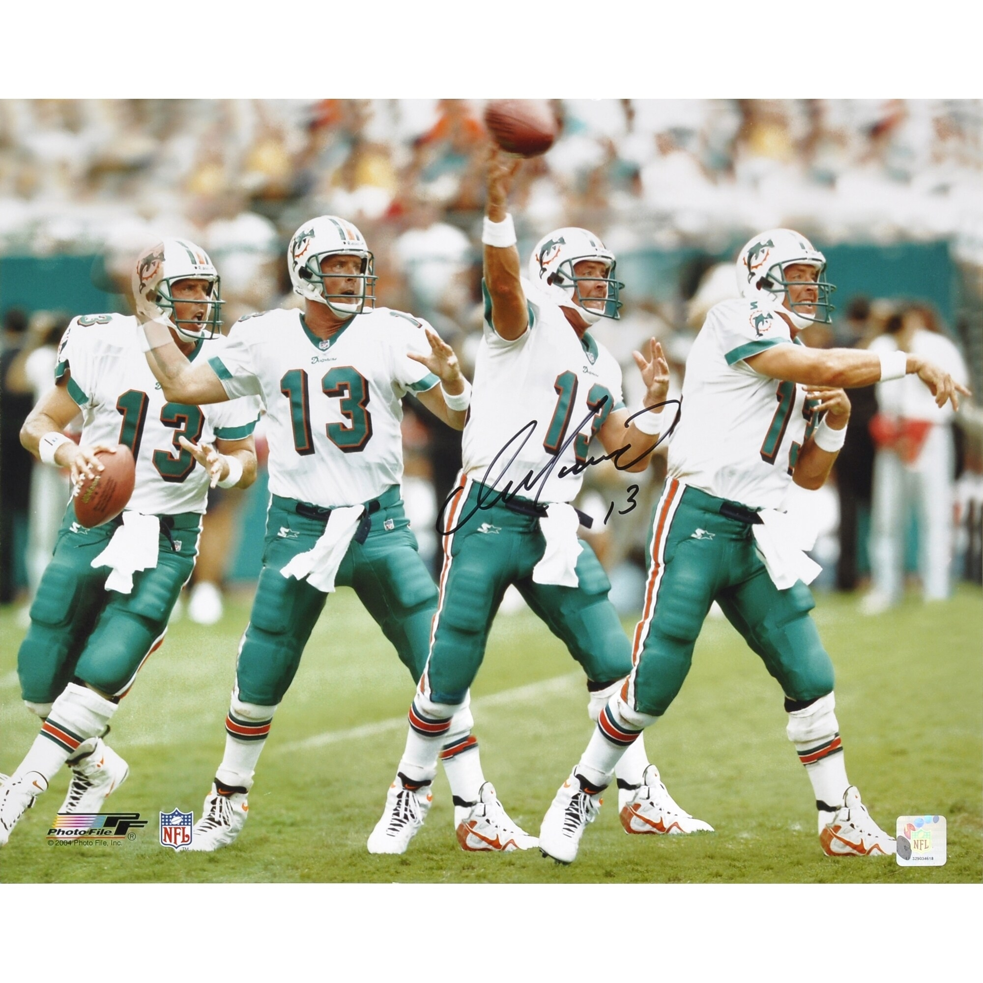 """Dan Marino Miami Dolphins Autographed 16"""" X 20"""" Exposure intended for Miami Dolphins Football Stadium Address"""