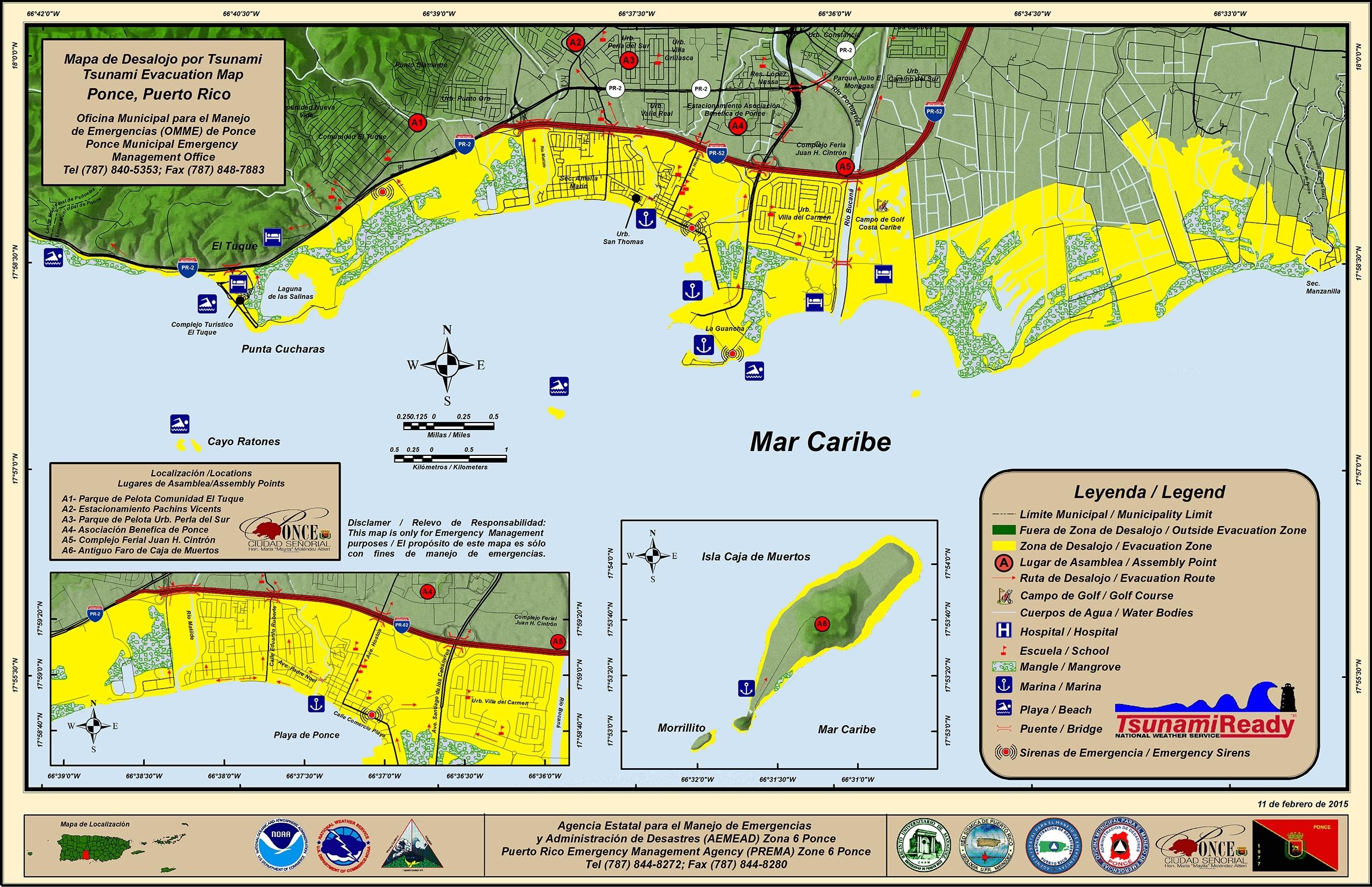 Evacuation Plan with Mapa Miami Puerto Rico