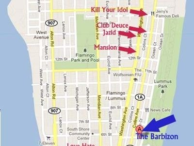 Events And Fun In South Beach, Miami: Miami Beach intended for Miami Beach Attractions Map