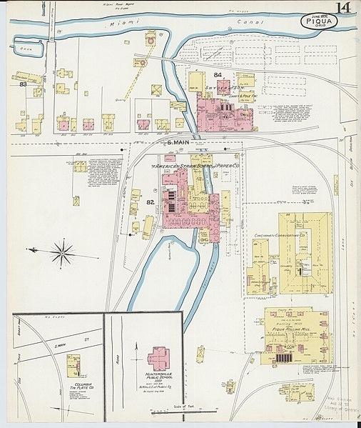 File:sanborn Fire Insurance Map From Piqua, Miami County regarding Miami County Ohio Map