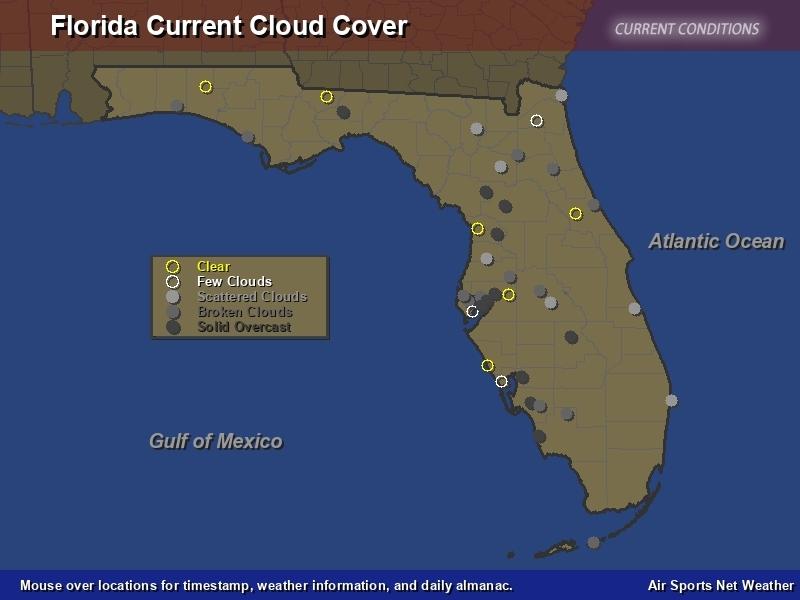 Florida Cloud Cover Map - Air Sports Net with regard to Miami Florida Radar Map