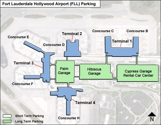 Fort Lauderdale Hollywood Airport Parking   Fll Airport throughout Miami Airport Map American Airlines