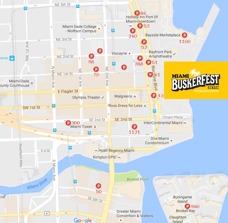 Getting Here | Buskerfest Miami in Miami Dade County Transit Map