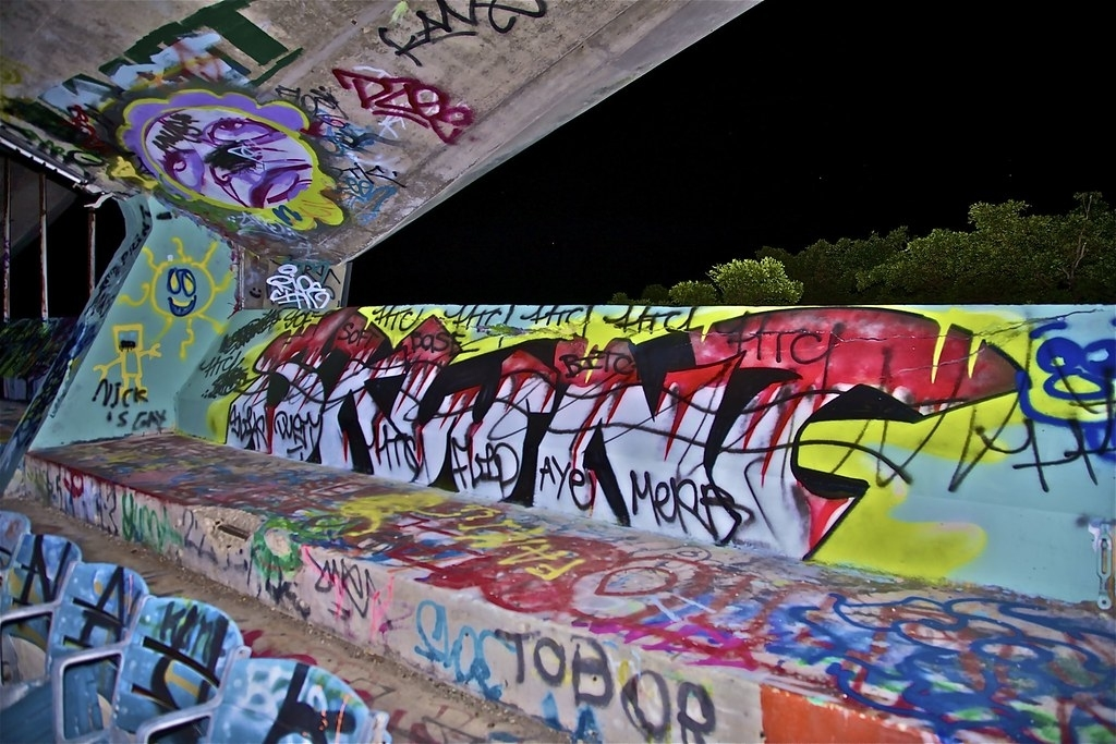 Graffiti @ Miami Marine Stadium. | Last Week I Happened To regarding Miami Marine Stadium Map