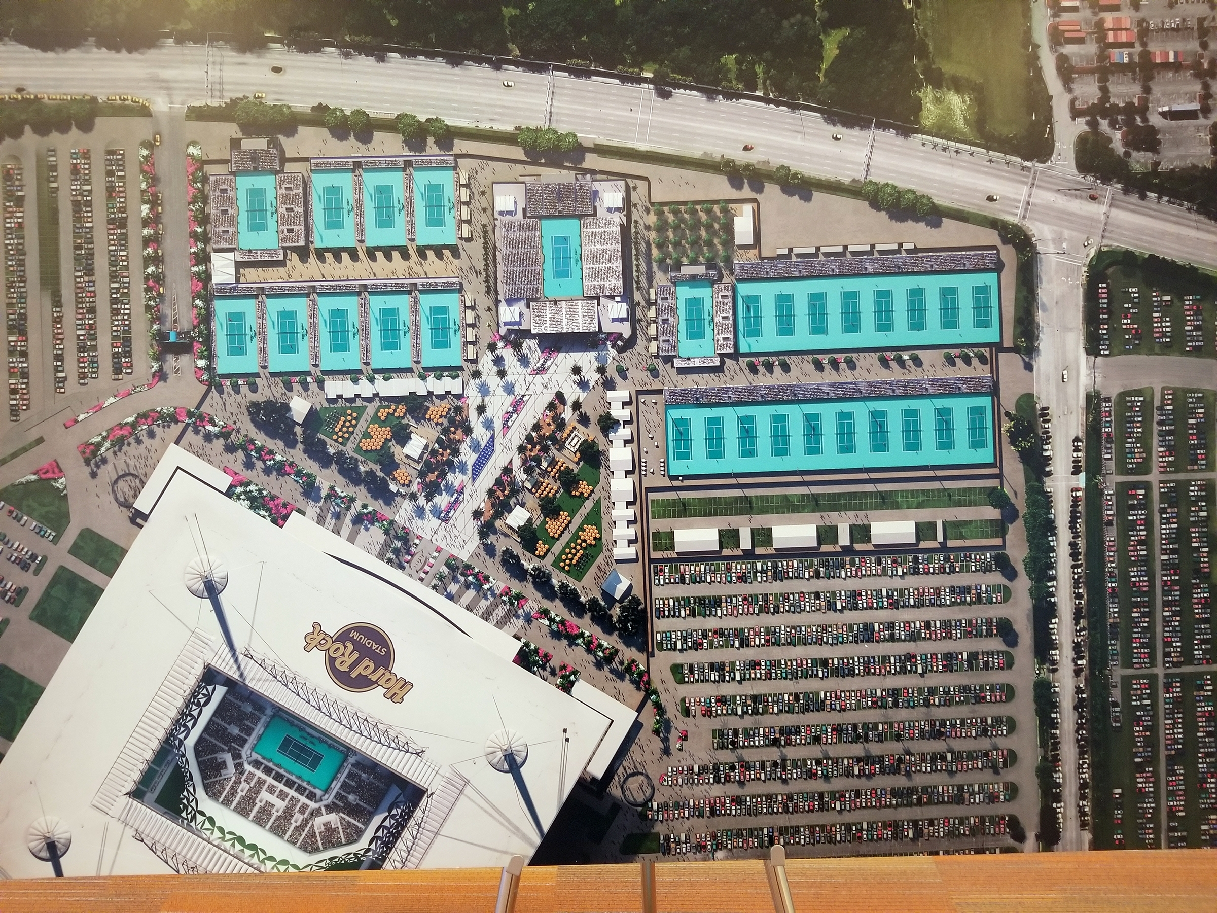 Hard Rock Stadium Living Up To Role As 'Global in Hard Rock Stadium Miami Map