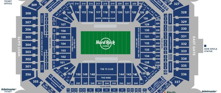Hard Rock Stadium - Miami Dolphins | Football Tripper Usa in Hard Rock Stadium Miami On Map