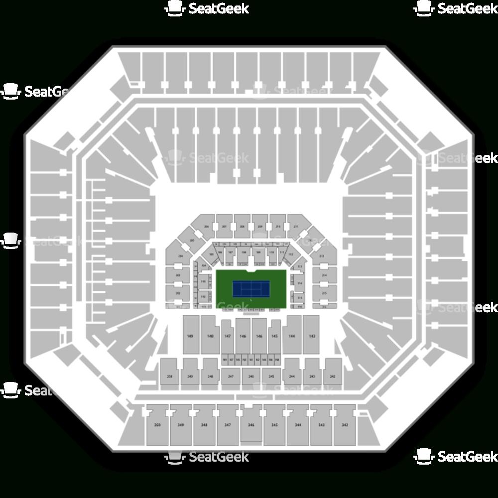 Hard Rock Stadium Seating Chart Tennis & Map | Seatgeek intended for Hard Rock Stadium Miami Seating Map