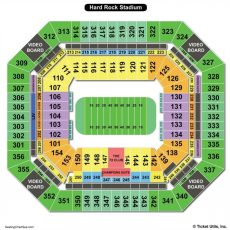 Hard Rock Stadium Seating Charts & Views   Games Answers with Miami Open Stadium Address
